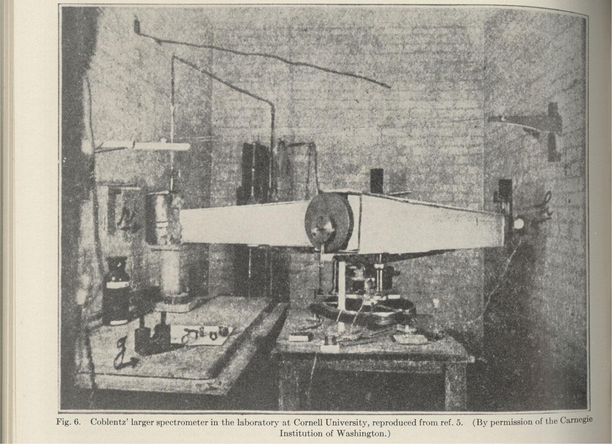 Coblentz's larger spectromoter - news clipping