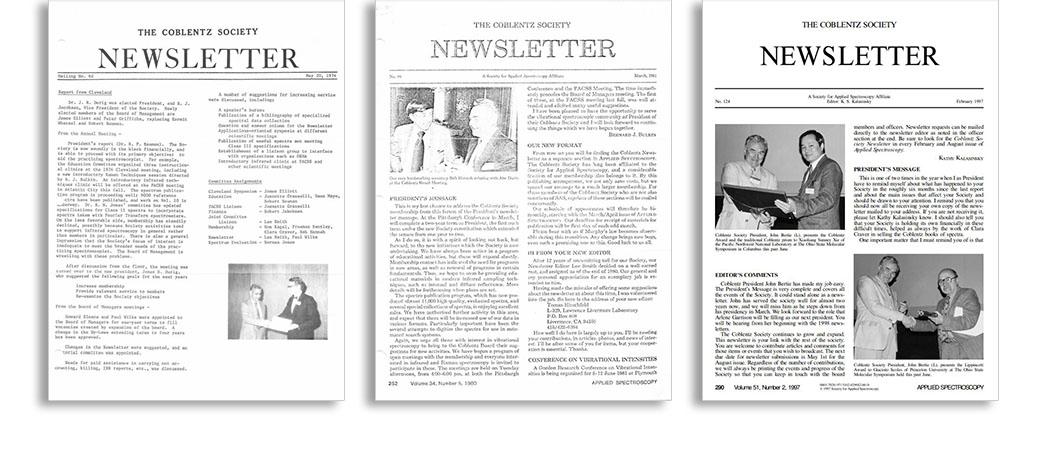 Coblentz Society Newsletter Archives